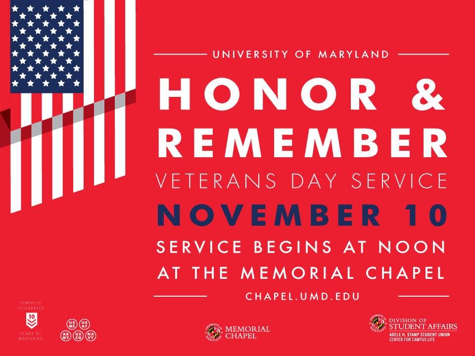 Celebrate and commemorate the UMD Veteran legacy